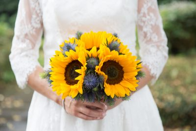 Bridal bouquet at a wedding at the Crown Inn Pishill Oxfordshire