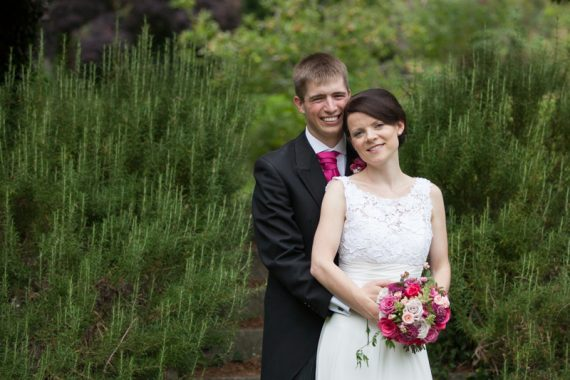 Bride and Groom portrait at Elephant Hotel