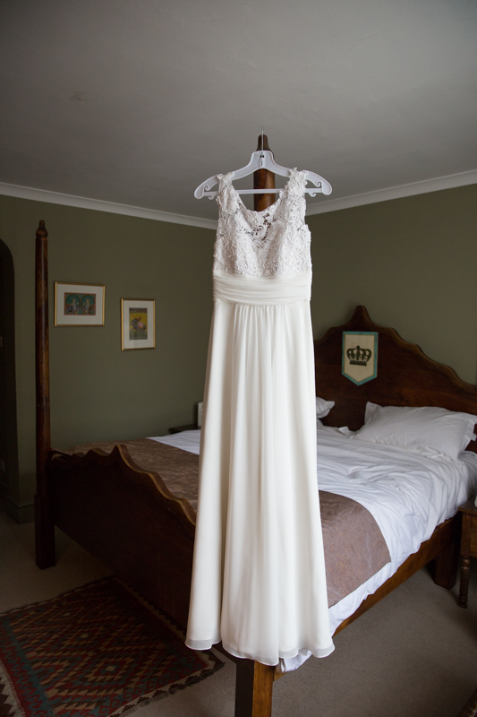 Wedding Dress in a bedroom at Elephant Hotel