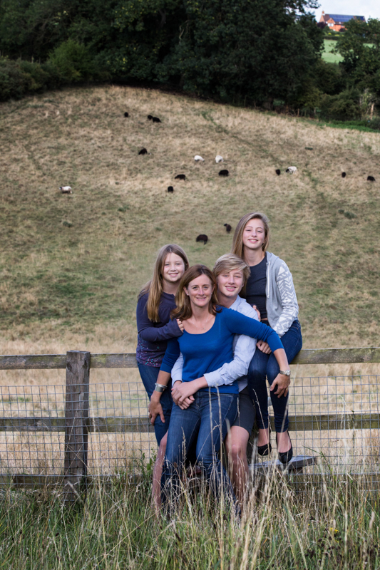 Family in chiltern hills