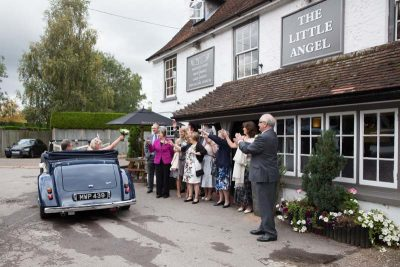 Vintage car wedding at Little Angel Henley on Thames