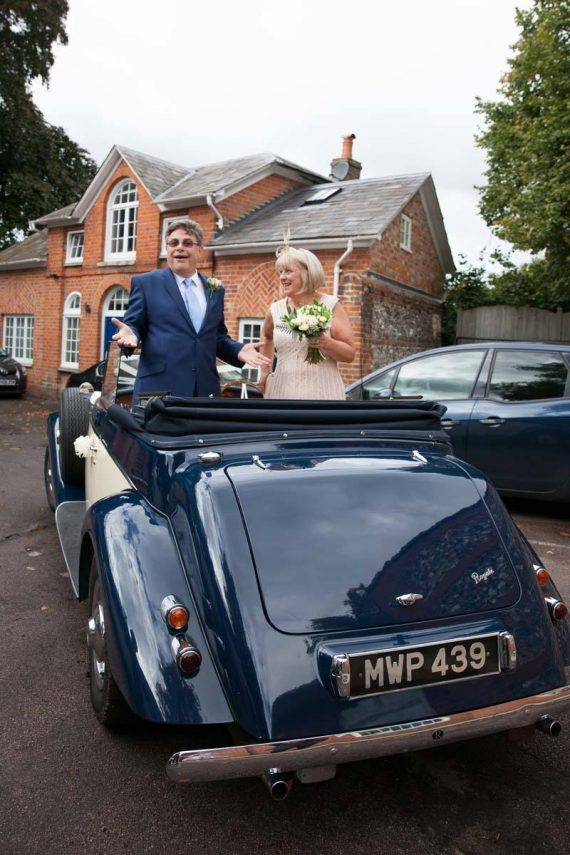 Wedding with Vintage Cars Henley on Thames