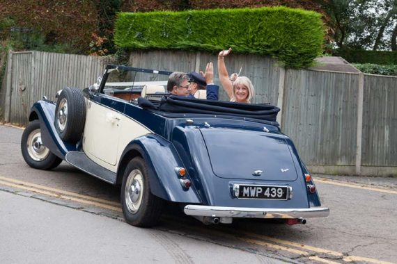 Wedding photography with Vintage Car Henley on Thames