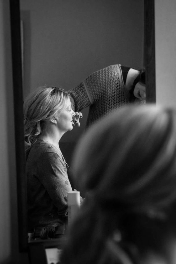 Behind the scenes - bride getting ready - natural wedding photography Oxfordshire