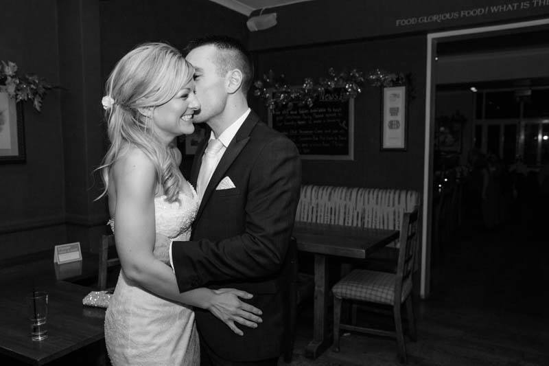 The happy couple at the Fishes Oxford natural wedding photography Oxfordshire
