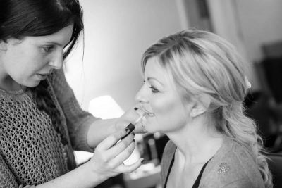 Documentary wedding photography Oxfordshire bridal makeup