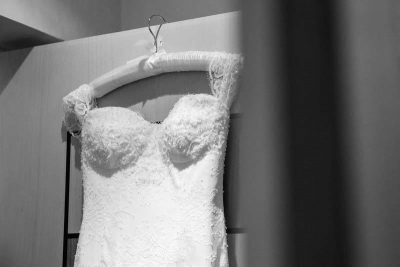 Wedding dress awaiting the bride - natural wedding photography Oxford