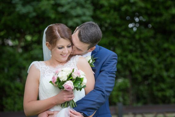 Bride and Groom at Steventon House Wedding