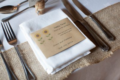 Rustic wedding details at Crown Inn Pishill