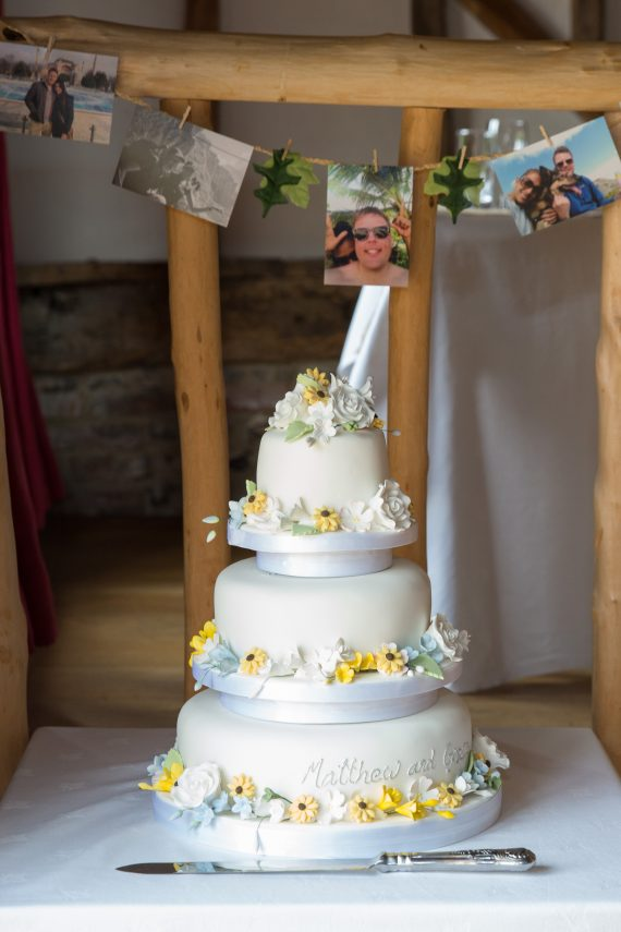 Wedding cake at Crown Inn Pishill