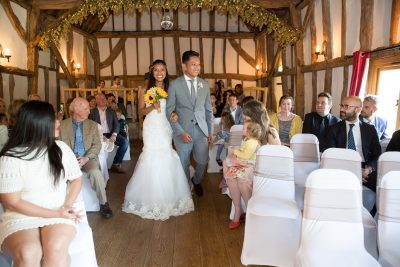 Bride entrance at Crown Inn Pishill