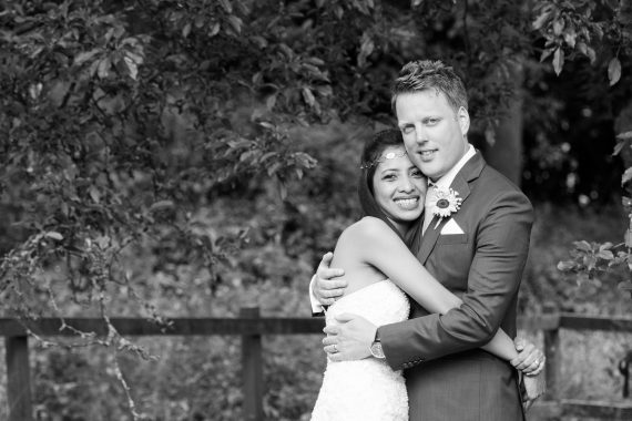 Happy couple at their wedding at Crown Inn Pishill
