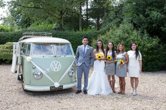 Camper van at a wedding at Crown Inn Pishill