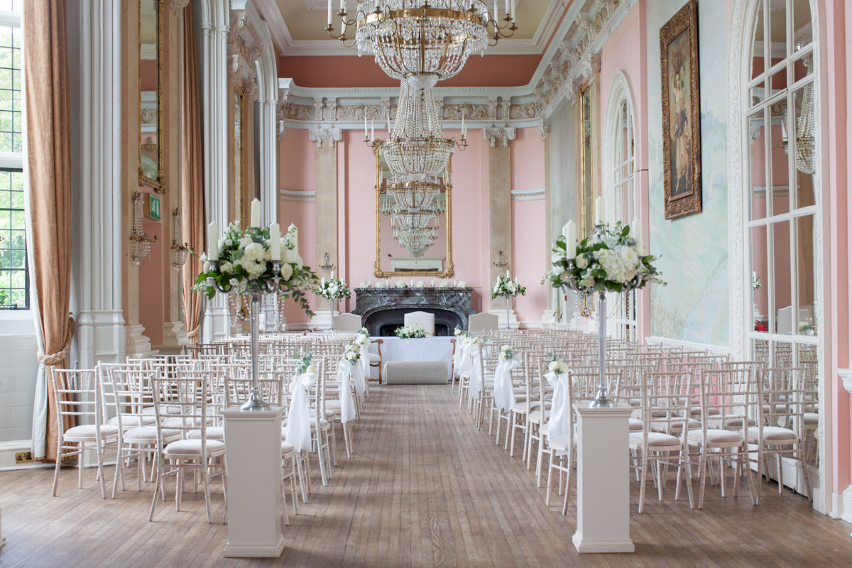 The grand hall used for wedding ceremonies at Danesfield House