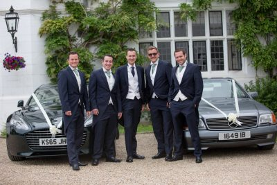 Danesfield House - the groom and his team