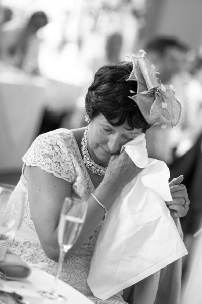 Tears at wedding. Danesfield House