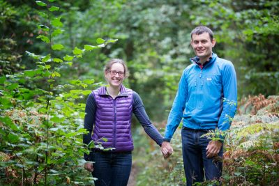 Engagement photography in woodlands near Henley on Thames