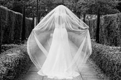 Bridal veil at Danesfield House