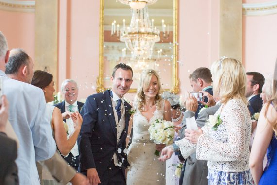 Confetti at Danesfield House wedding in Buckinghamshire