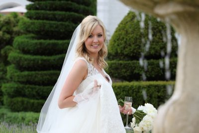 Bride smiling at Danesfield House Buckinghamshire