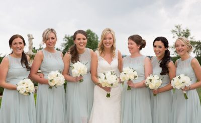 Bridesmaids at a wedding at Danesfield House Buckinghamshire