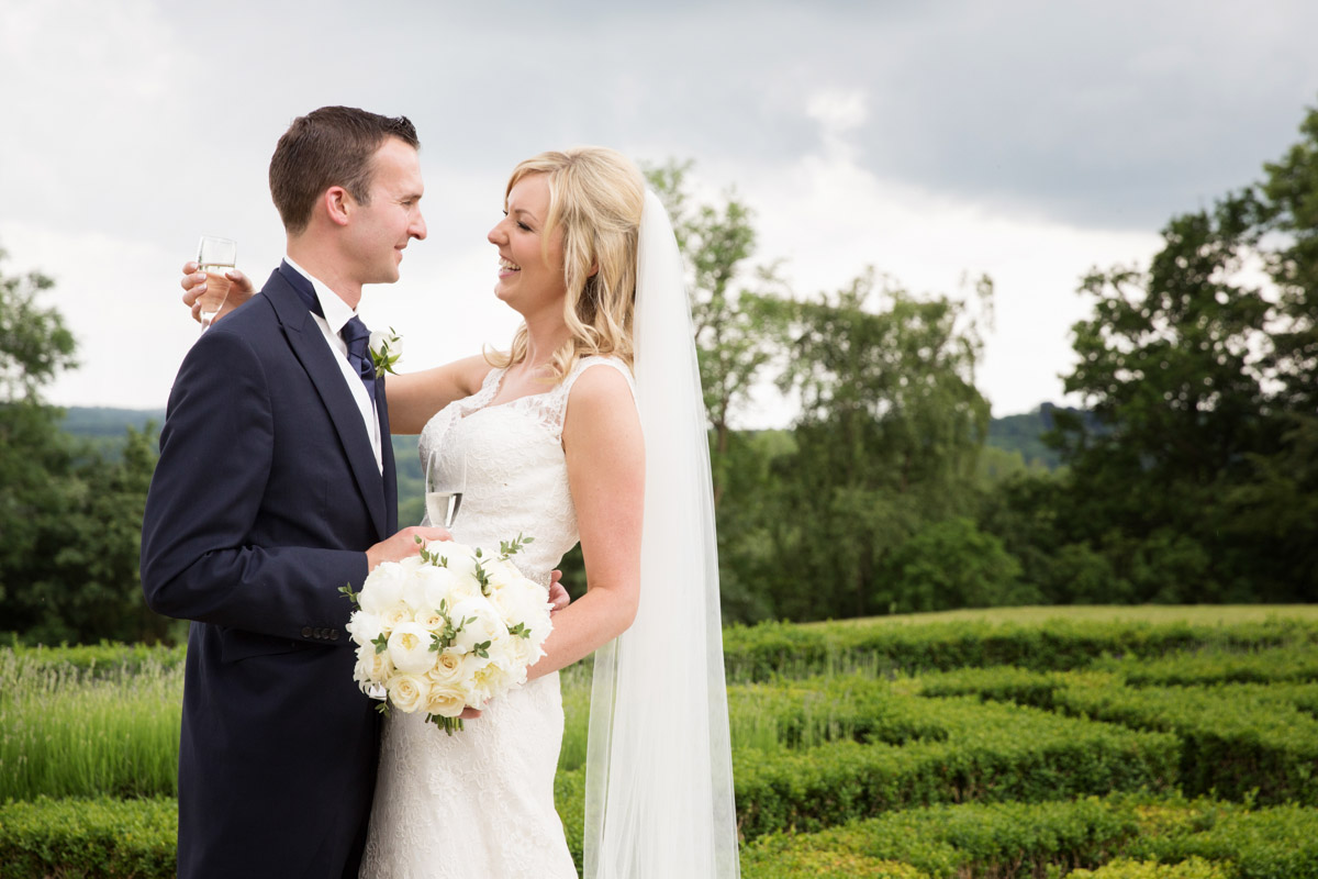 Bride and Groom at Danesfield House Buckinghamshire