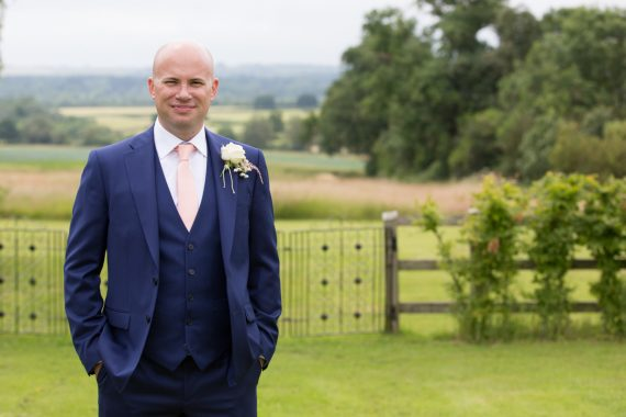 Natural portrait of Groom at Merriscourt in Cotswolds