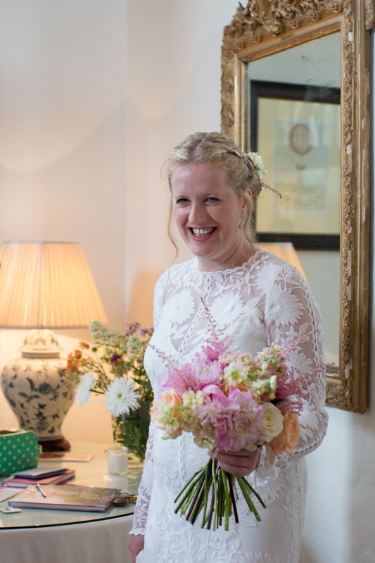 Bridal portrait at Merriscourt Wedding in Cotswolds