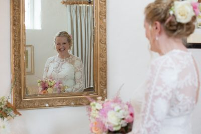 Happy Bride at Merriscourt Wedding in Cotswolds