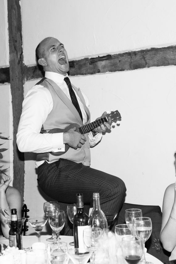Wedding photography at Bix Manor Oxfordshire - music man