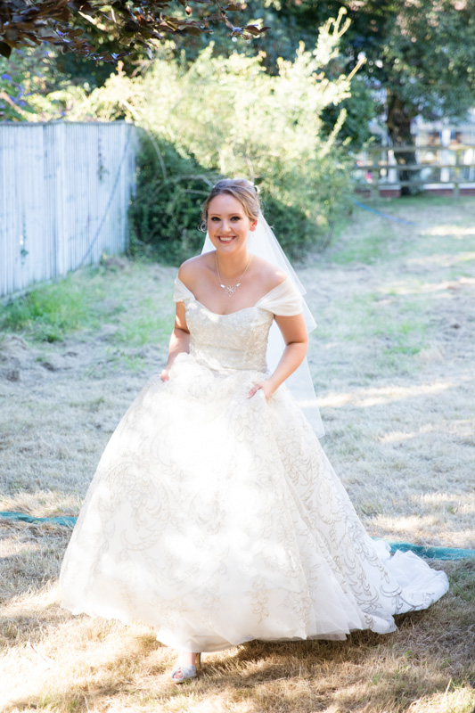 Beautiful bride at her marquee wedding in Henley Oxfordshire