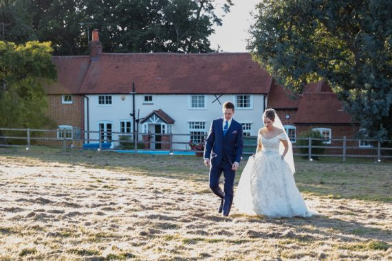 Wedding Photography Oxfordshire. Bride and Groom at sunset