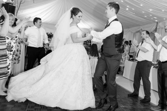 Bride and Groom dancing at their wedding in Henley