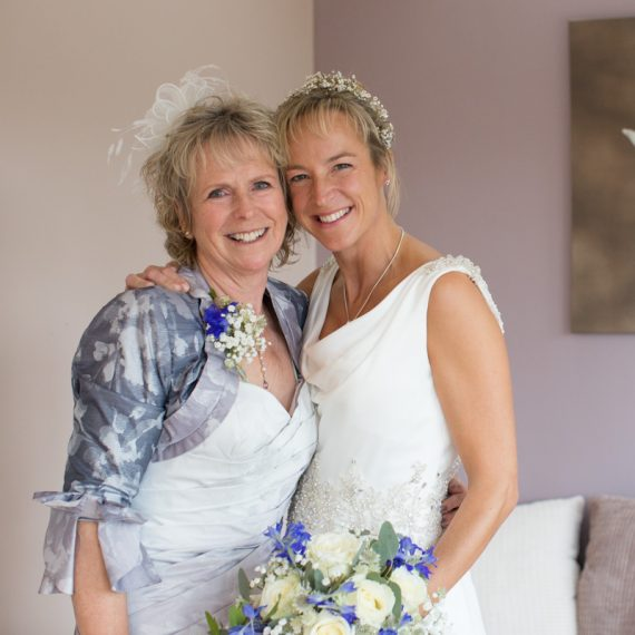 Bride with her mother at Henley wedding