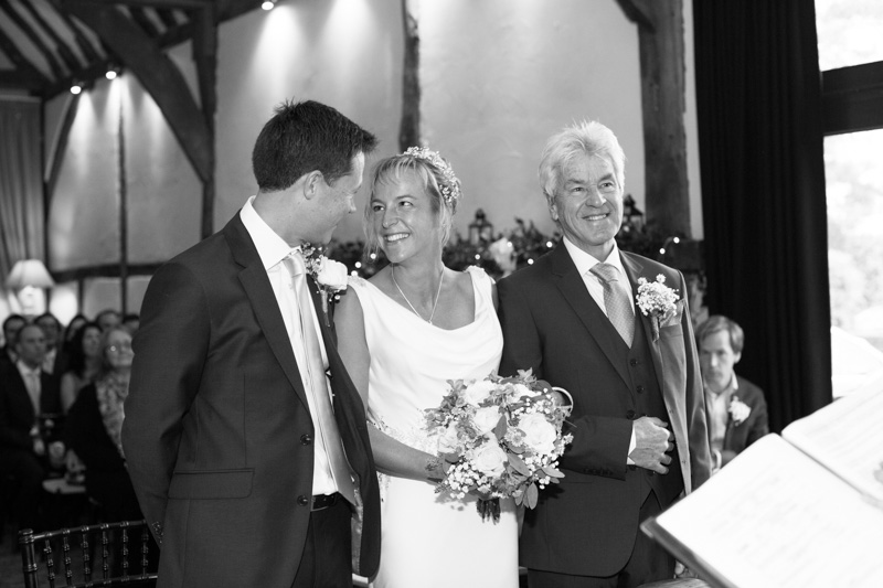 Happy couple at their civil ceremony at Bix Manor