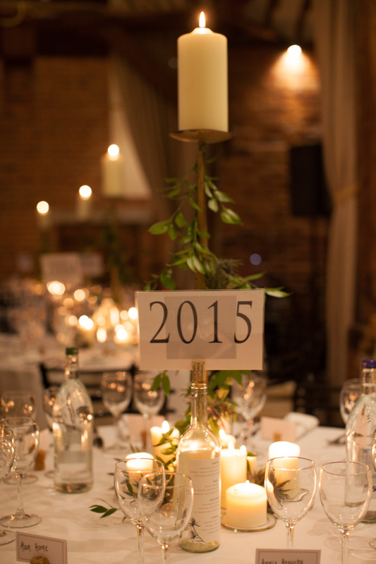 Table details at Bix Manor Wedding