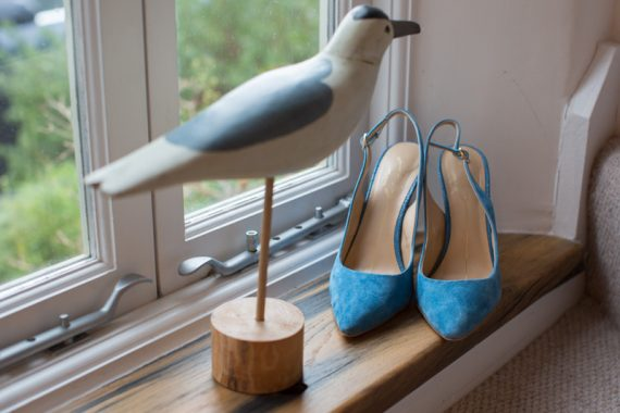 Blue Wedding Shoes at Henley Wedding