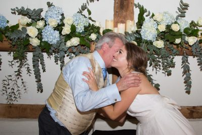 Bride kissing her Father at Bix Manor wedding