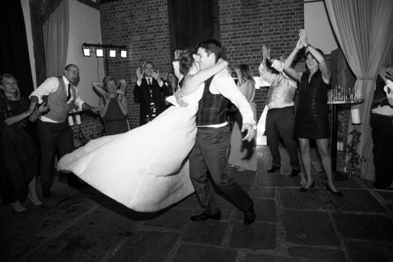 Bride and Groom first dance at New Year's Eve Wedding at Bix Mannor