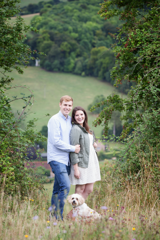 Couple on their pre wedding shoot at Turville