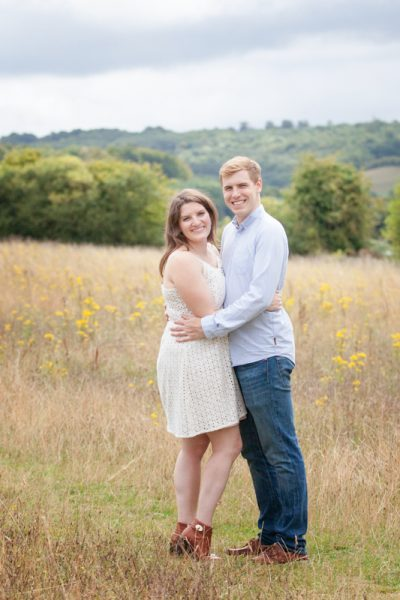 Couple at their pre wedding shoot in Turville