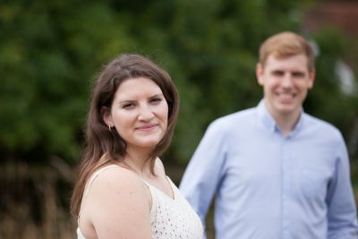 Couple on Engagement shoot in Turville