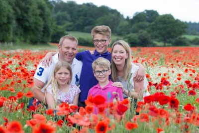 Family Photo shoot in poppy field near Henley