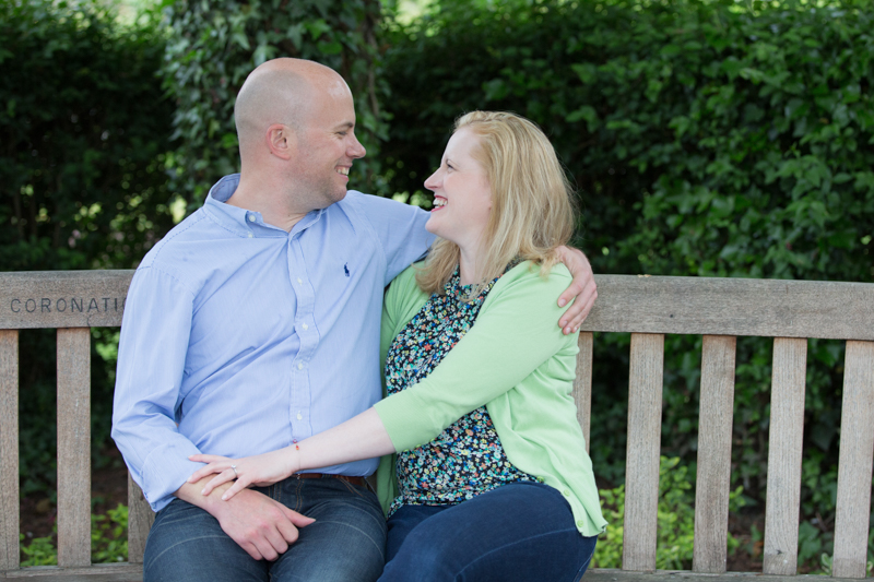 Happy couple on a bench in Henley on Thames