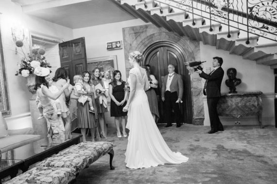 The big reveal at Stoke Park Wedding