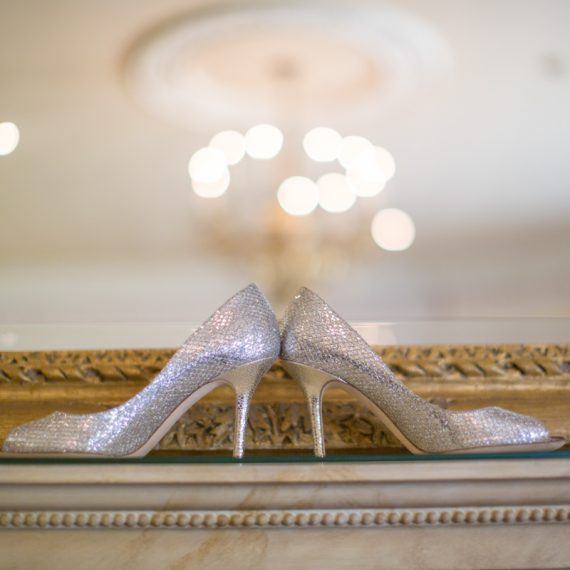 Jimmy Choo Shoes at Stoke Park wedding
