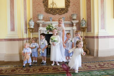 Escaping children at Stoke Park Wedding