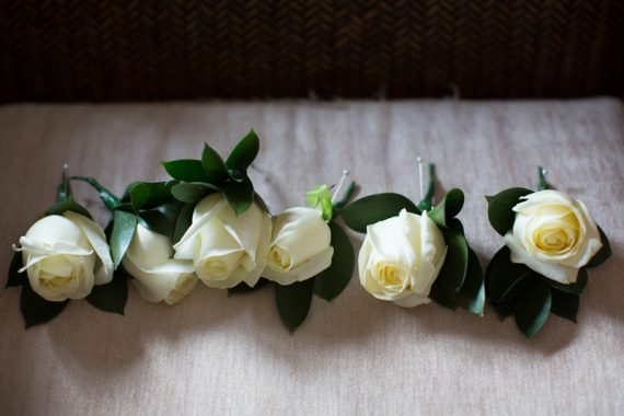 Buttonholes at Wasing Park Wedding