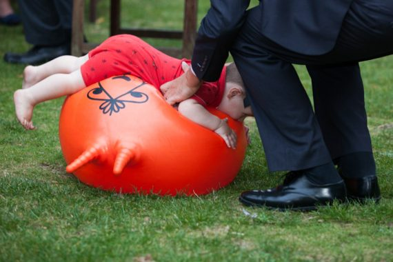 Child on space hopper at Elephant Hotel Wedding