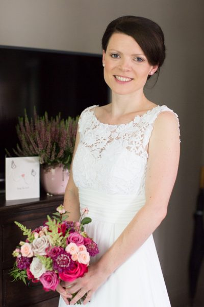 Bride before her wedding at Elephant Hotel Pangbourne